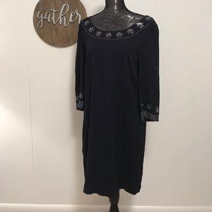 Boden dark blue mini dress with sequin details